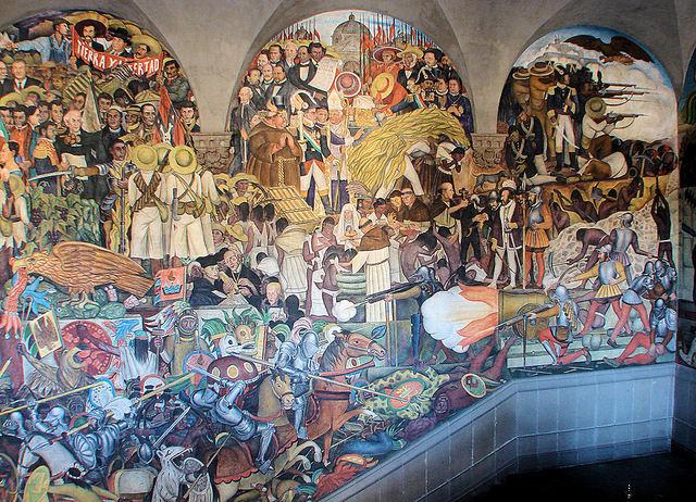 zocalo mexico city murals rivera