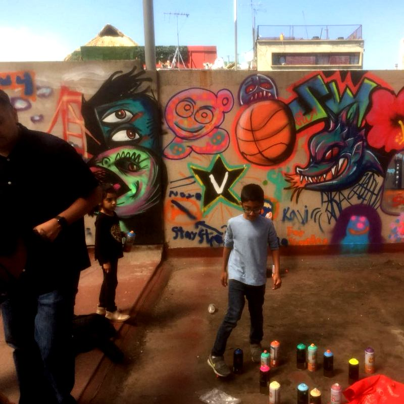 Mexico City Street Art Tour perfect for families kids on private graffiti tour