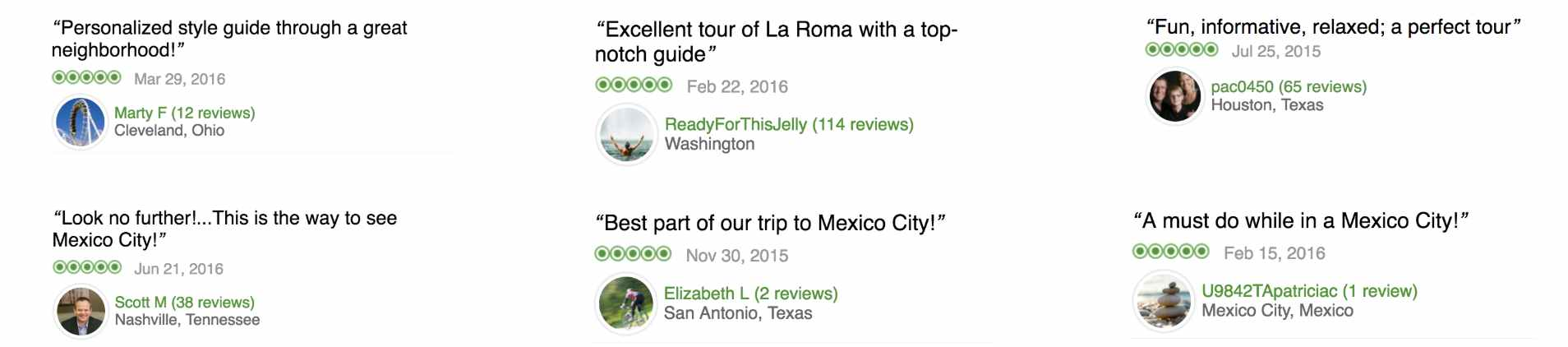 see the stylewalk reviews on tripadvisor