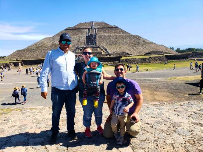 travel pyramids young children mexico city teotihuacan